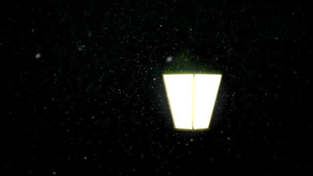 snowy street video