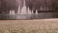 Snowy Water Fountain video