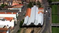 São João Del Rei Train Station  - Aerial View - Minas Gerais, São João del Rei, Brazil video
