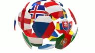 Soccer Ball Animation - 4K video