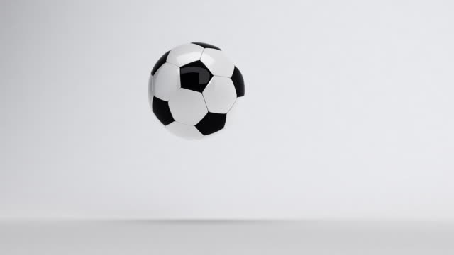Soccer Ball bouncing till stop video