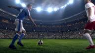 Soccer: Ball kick by soccer player video