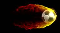 Soccer ball on Fire HD video