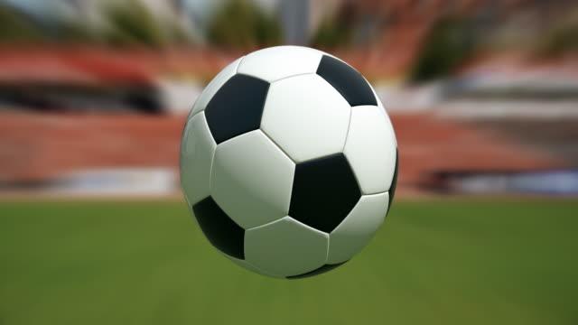 Soccer Ball on Stadium| Loopable - 4K video