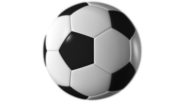 Soccer  ball spinning, loopable, alpha matte video