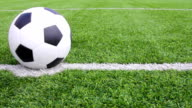 Soccer ball with grass video