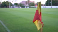 Soccer corner flag video