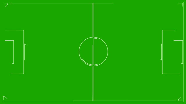 Soccer Field Drawing on a green screen video