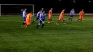 Soccer / Football action - Passing play between players video