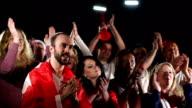 Soccer / football fans applauding - Super Slow motion HD video