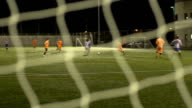 Soccer / Football match - Action from the net video