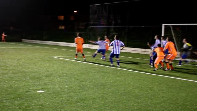 Soccer / Football match - Scoring goal from a corner video