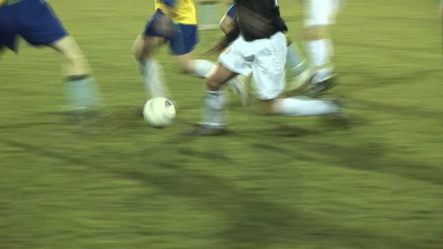Soccer / Football Match under Floodlights on Grass pitch video