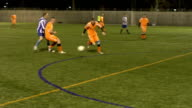 Soccer / Football players chasing the ball video