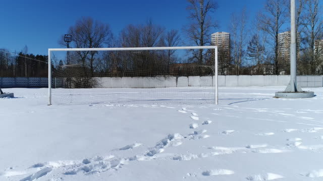 Soccer gate in winter video