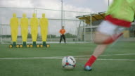 Soccer goal kick training video
