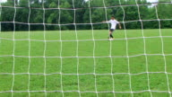 Soccer Goal Kick video