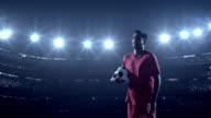 Soccer player  in stadium video