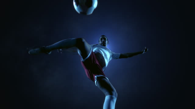 Soccer Player Kicking Ball video