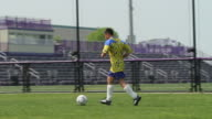 Soccer player practicing video