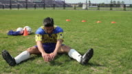 Soccer player stretching video