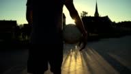 HD SUPER SLOW-MO: Soccer Player Walking Away video