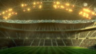Soccer stadium full of spectators video
