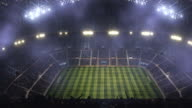 Soccer stadium with fog and lights video
