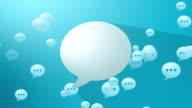 Social Media Blue Blank Speech Balloon video