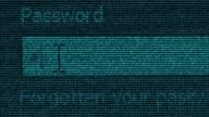 Social media digital binary computer data code cyberspace graphic animation video