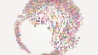 Social media icon world - loopable video