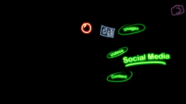 Social Media Neon Scribblings video