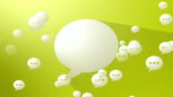 Social Media Yellow Blank Speech Balloon video