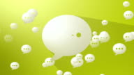 Social Media Yellow Speech Balloons video