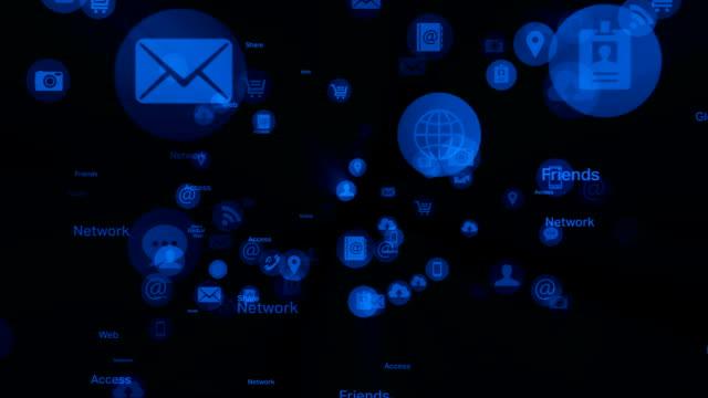 Social network and Media - Black & White video
