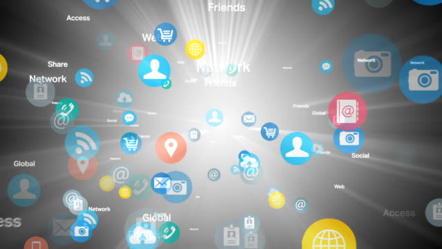 Social network and Media - White video