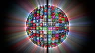 Social Network, Animated Icons, shine, black video