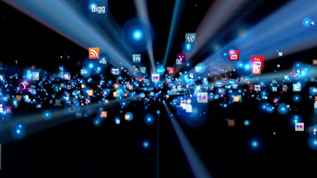 Social Network Icons animation, shine video