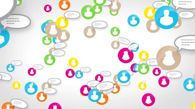 Social network loop media concept skype video