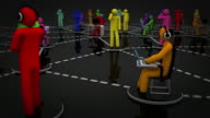 Social Network. Black and Multicolored. video