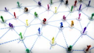 Social Network. Multicolored. White background. video