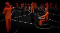 Social Network. Orange. Black background. video