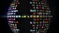 Social Network Sphere Picture Grid video