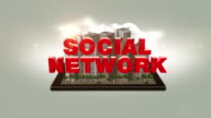 Social Network Text In The Digital City video