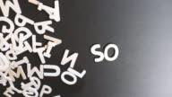 Social Spelled In wooden alphabet video