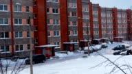 Socialist era apartment block in Europe. video