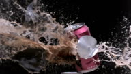 Soda can exploding video