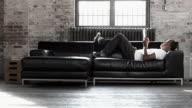 Sofa Tablet Man video
