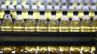 Soft Drink Bottling Line Closeup video