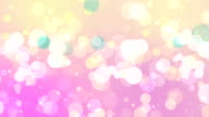 Soft Mix Colored Bokeh On Pink Background video
